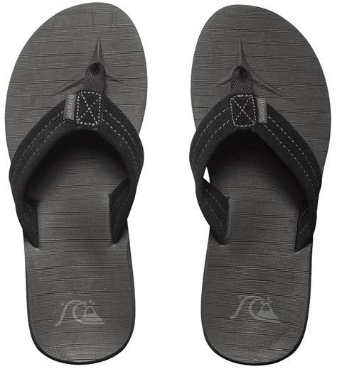 Quiksilver Ls58 Silveryellow Black Leather quiksilver carver suede s flip flops sandals pleasuresports