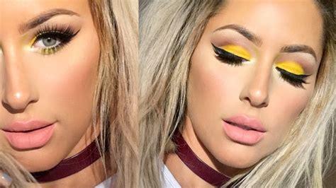 makeup tutorial eyeliner youtube spring makeup tutorial neon yellow chrisspy youtube