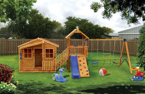 kids playhouse swing set chipmonk kindy gym comes with a swing set slide