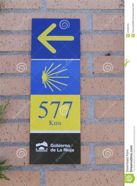read a pilgrim s guide to the camino portugu 233 s lisboa pilgrim sign at the camino de santiago de compostela stock