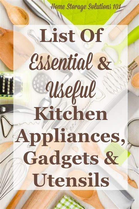 list of kitchen essentials for new home essential gadgets small kitchen appliances list home home storage solutions and from home