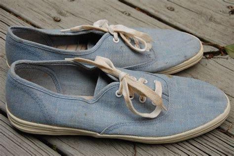 rf denim kets shoes vintage 80s chambray light blue denim keds vans style