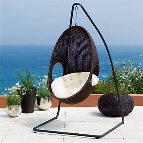 swinging pod chair rattan pod hanging garden chair from john lewis