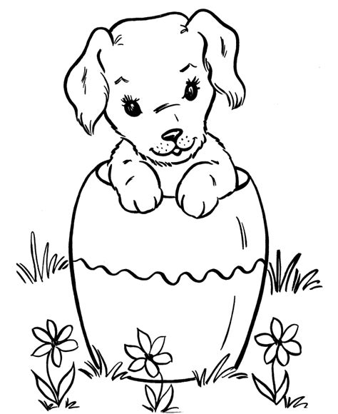 Best Coloring Page Dog Dogs And Puppies Coloring Pages Free Puppy Coloring Pages