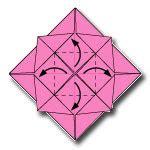 Origami Mawar - cara membuat origami bunga mawar cara membuat origami