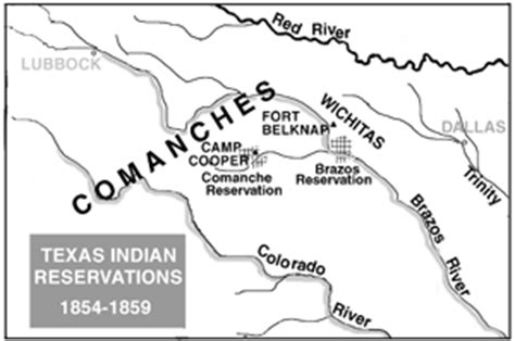 indian reservations texas map c cooper ft belknap and the indian reservations texas almanac