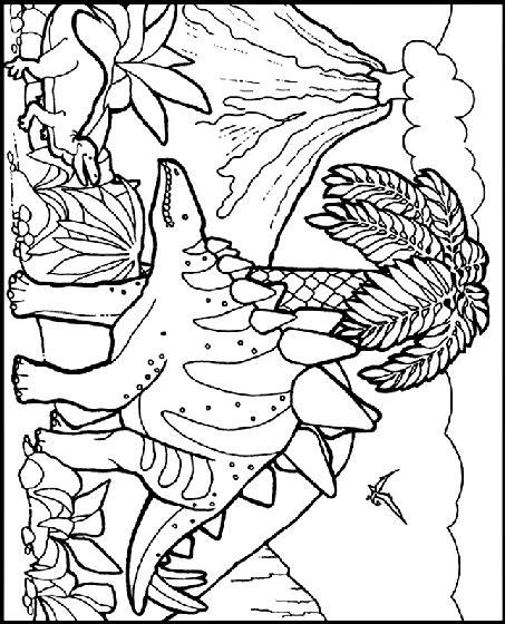 dinosaur habitat coloring page stegosaurus coloring page crayola com