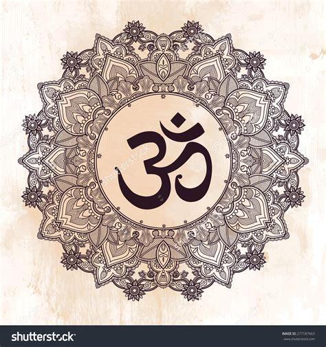 tattoo mandala hindu lord ganesha diwali om mandala symbol round ornament