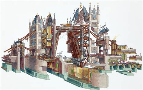 Cross Section by Stephen Biesty Illustrator Cross Sections Tower Bridge