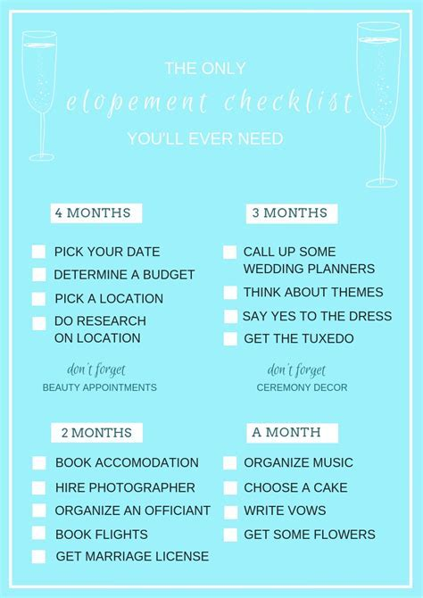 The Only Elopement Checklist You?ll Ever Need ? Dream