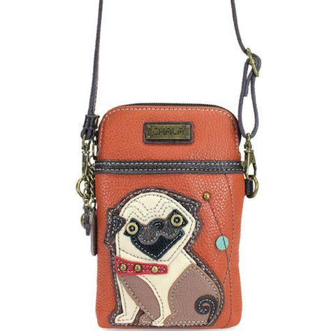 pug purse chala pug x cell phone purse enchanted memories custom engraving unique gifts