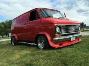 1972 chevy custom shorty g20 rod cherry