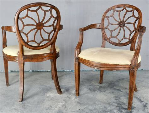 Spider Chair - pair of early 20th century spider back hepplewhite chairs