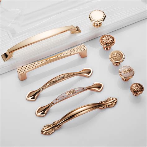 Kitchen Drawer Pulls And Knobs by 5pcs Gold Furniture Handles Drawer Pulls Kitchen Cabinet