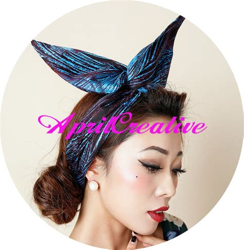 Bow Fabric Hair Band hair band peacock feathers retro fabric band for