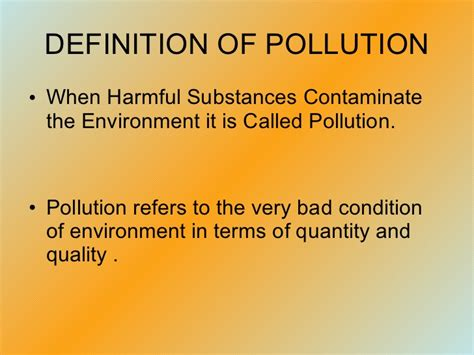 Landscape Pollution Definition Pollution Ppt