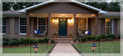 ranch style homes with front porches brick search