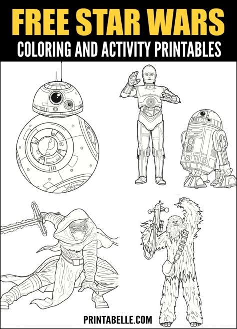 star wars printable coloring  activity pages
