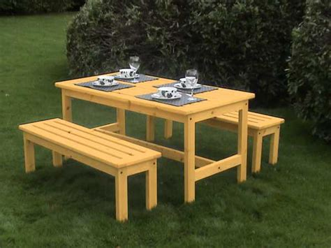 outdoor bench set atholl garden table and bench set
