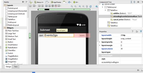 change layout java android change the text size of a textview and a column in