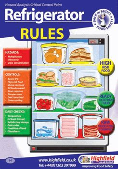 fridge layout guide from where to pursue food safe courses safety posters