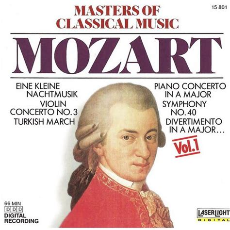 wann lebte mozart masters of classical volume 1 wolfgang amadeus