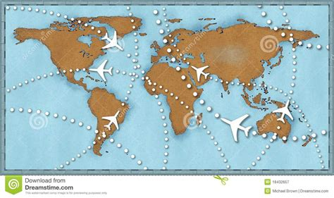 map of your travels airline planes travel flights world map royalty free stock