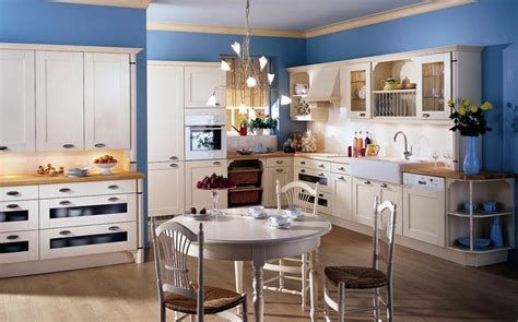 country blue kitchen cabinets country kitchens