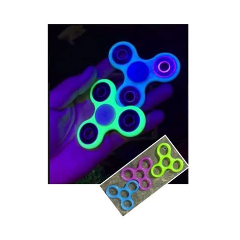 Fidget Spinner Spinner Mix Color Glow 1 300 units of glow in fidget spinner 3 colors at alltimetrading