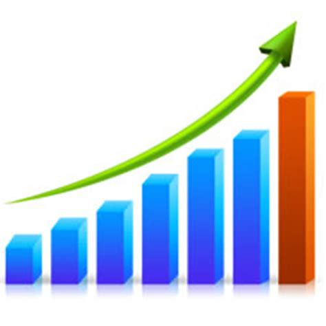 growth graph chart psd and png image download