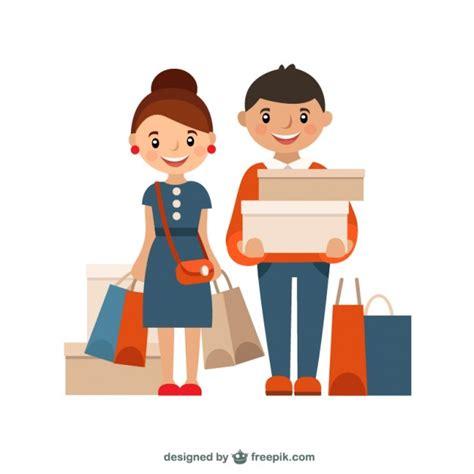 shooping for shopping illustration vector free