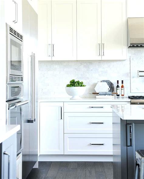 best color hardware for white kitchen cabinets black