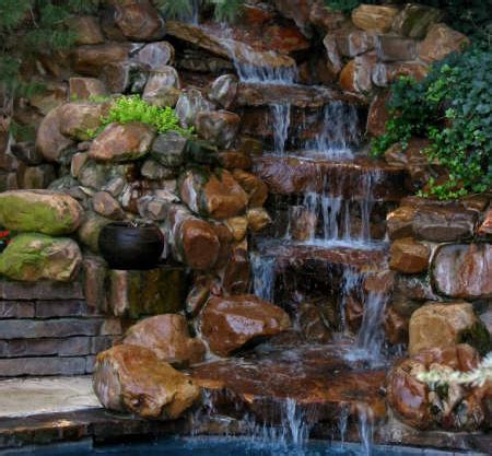 stone waterfalls backyard cripple creek stone yard inc