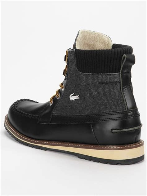 lacoste lousteau mens boots in black for lyst