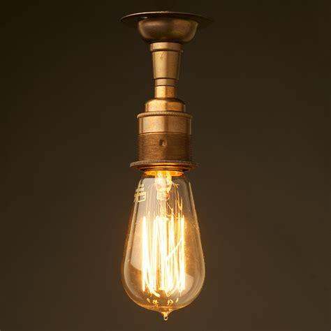 batten holder light fitting brass batten holder edison e27 fitting