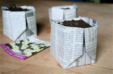 How To Make Paper Pot - how to make a newspaper planter shtf prepping