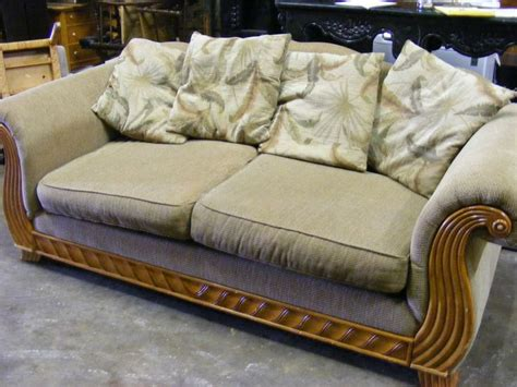 sand colored couch sand colored sleigh sofa auction items pinterest