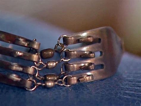 silver fork bracelet diy