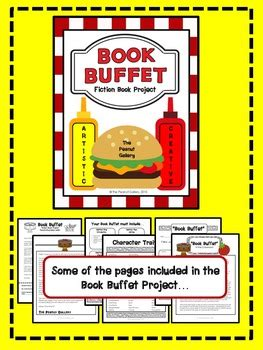 Fiction Book Report Projects by Quot Book Buffet Quot Fiction Book Report Book Project By The