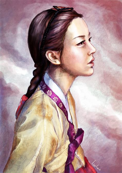 traditional hairstyles games illustratively in hanbok by canitiem on deviantart