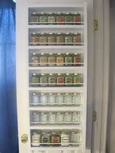 spice rack pantry door organization