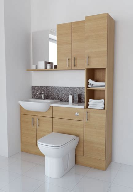 Bathcabz Bathroom Fitted Furniture Light Oak Furniture Light Oak Bathroom Furniture