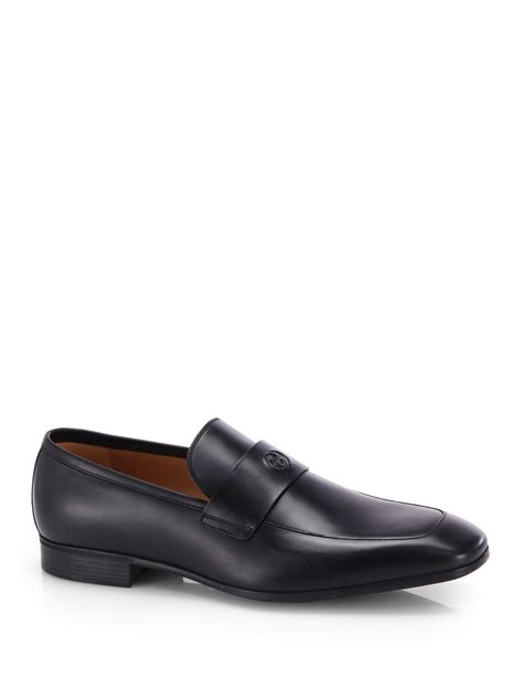 loafers for gucci lyst gucci interlocking quot g quot leather loafers in black for