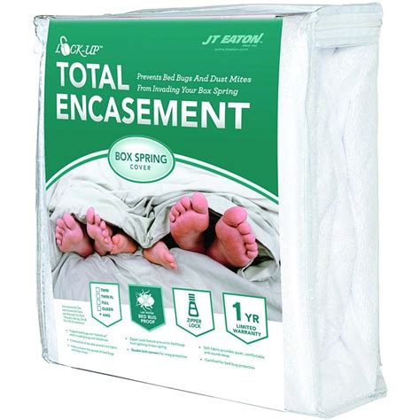 protect a bed box spring encasement full xl case 8 covers jt eaton lock up total encasement bed bug protection for