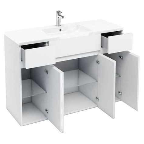 1200 bathroom vanity units 1200 quattrocast double door unit basin and side units