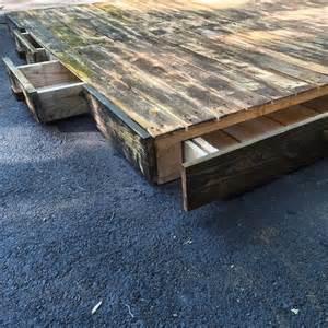 Diy Platform Bed With Pallets Diy Pallet Platform Bed Pallet Furniture Plans