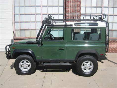 land rover green 1997 land rover defender 90 wagon coniston green for sale