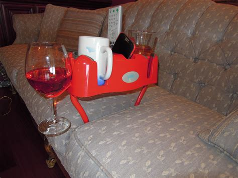 sofa tray with cup holder sofa drink holder diy couch cup holder and remote caddy