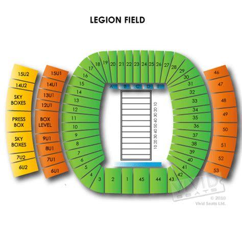 legion field seating chart legion field tickets legion field seating chart