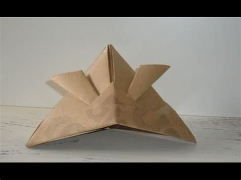 How To Make A Paper Samurai Helmet - origami tutorial how to make an origami samurai helmet
